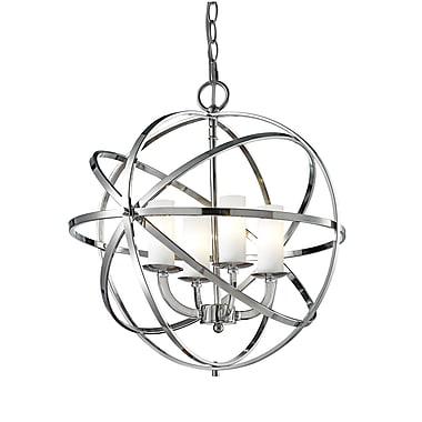 Z-Lite – Luminaire suspendu Aranya (6017-4S-CH) à 4 lampes, 18,31 x 18,31 x 19,29 po, chrome