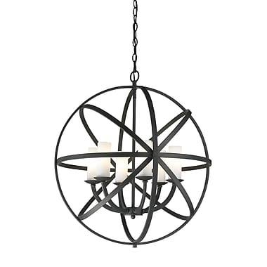 Z-Lite – Luminaire suspendu Aranya (6017-6L-BRZ) à 6 lampes, 23,82 x 23,82 x 24,8 po, bronze