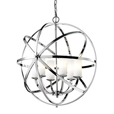 Z-Lite – Luminaire suspendu Aranya (6017-6L-CH) à 6 lampes, 23,82 x 23,82 x 24,8 po, chrome