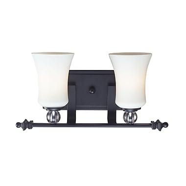 Z-Lite – Luminaire pour salle de bain Harmony (604-2V) à 2 lumières, 5,75 x 16,5 x 8,13 po, noir mat