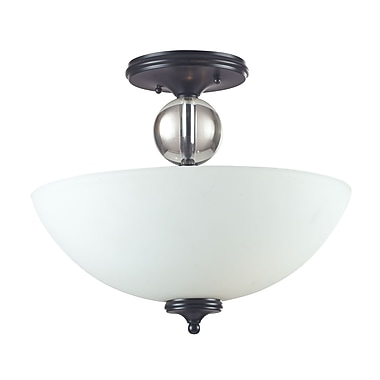 Z-Lite Harmony (604SF) 3 Light Semi-Flush Mount Light, 15.75