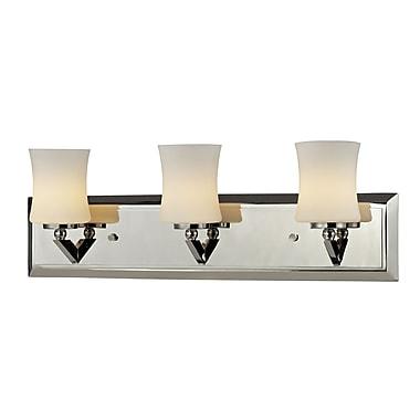 Z-Lite – Luminaire pour salle de bain Elite (608-3V-CH) à 3 lumières, 4,5 x 20,75 x 6,75 po, chrome