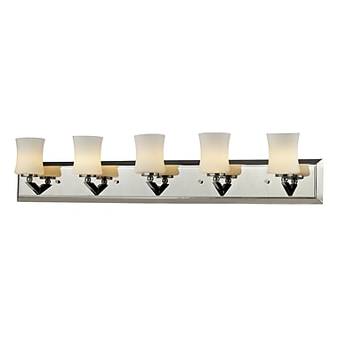 Z-Lite – Luminaire pour salle de bain Elite (608-5V-CH) à 5 lumières, 4,5 x 35,25 x 6,75 po, chrome