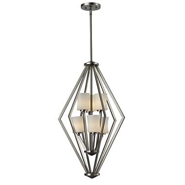 Z-Lite – Luminaire de vestibule Elite (609-6-BN) à 9 lampes, 20,25 x 90,75 po, chrome