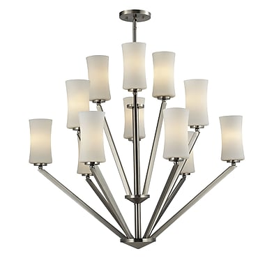 Z-Lite Elite (609-12-BN) 12 Light Chandelier, 36
