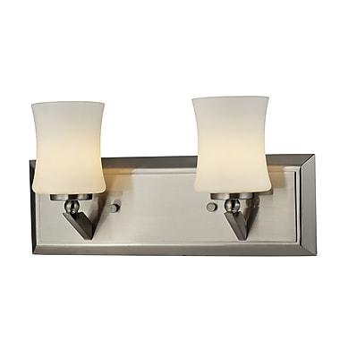 Z-Lite – Luminaire pour salle de bain Elite (609-2V-BN) à 2 lumières, 4,5 x 13,5 x 6,75 po, nickel brossé