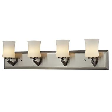 Z-Lite – Luminaire pour salle de bain Elite (609-4V-BN) à 4 lumières, 4,5 x 28 x 6,75 po, nickel brossé