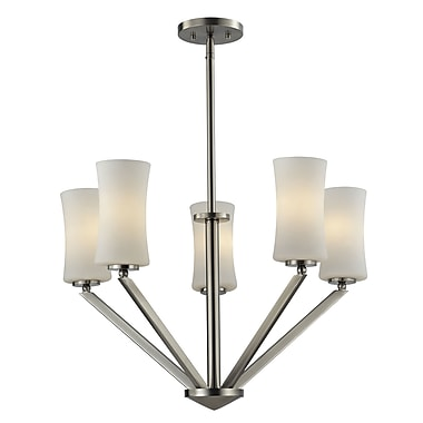 Z-Lite Elite (609-5-BN) 5 Light Chandelier, 24