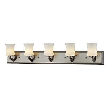 Z-Lite Elite (609-5V-BN) 5 Light Vanity, 4.5