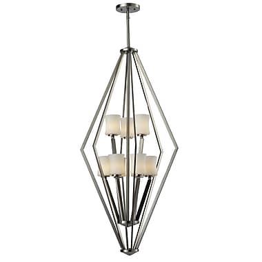 Z-Lite – Luminaire de vestibule Lotus (609-9-BN) à 8 lampes, 18 x 18 x 42 po, chrome