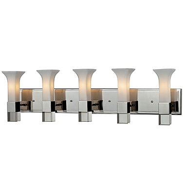 Z-Lite Lotus (611-5V-CH) 5 Light Vanity, 5.25