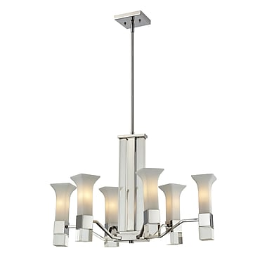 Z-Lite Lotus (611-6-CH) 6 Light Chandelier, 28