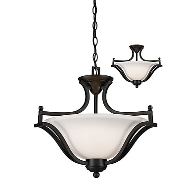 Z-Lite Lagoon (703SFC-MB) 3 Light Pendant, 19.5