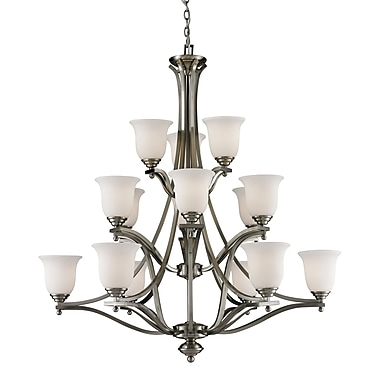 Z-Lite Lagoon (704-15-BN) 15 Light Chandelier, 42