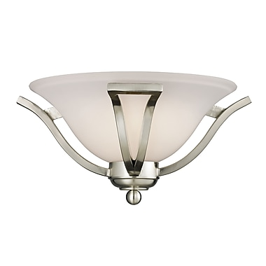 Z-Lite Lagoon (704-1S-BN) 1 Light Wall Sconce, 15