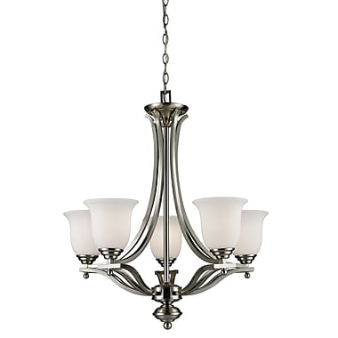 Z-Lite Lagoon (704-5-BN) 5 Light Chandelier, 26.5