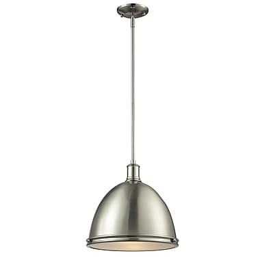 Z-Lite – Luminaire suspendu Mason 710P13-3BN pour îlot/billard, 3 amp., métal de couleur nickel brossé