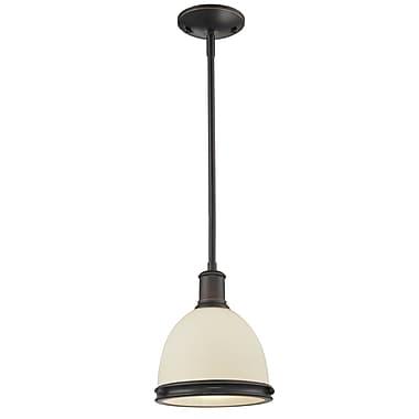 Z-Lite – Luminaire suspendu mini Mason (713MP-OB) à 1 lampe, 8 x 57,25 po, bronze d'époque