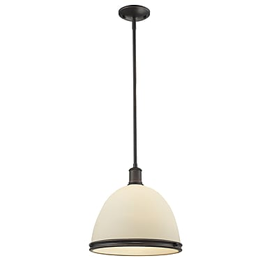 Z-Lite 713P13-3OB Mason Island/Billiard, 3 Bulb, Matte Opal Glass