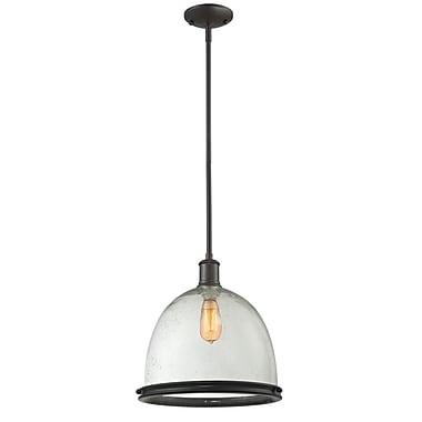 Z-Lite – Luminaire suspendu Mason (716P13-BRZ) à 1 lampe, 13 x 61,5 po, bronze