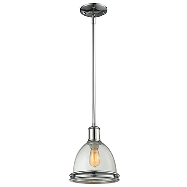 Z-Lite Mason 719MP-CH, 1 Light Mini Pendant, 8