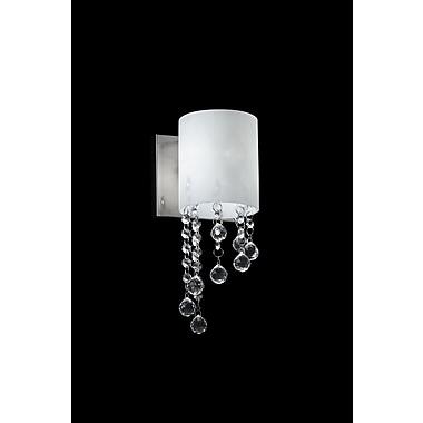 Z-Lite Jewel Wall Sconce Light, Chrome, Matte Opal Glass Shade (871CH-1S-LED)