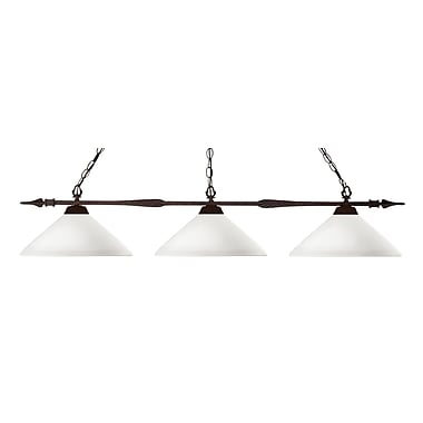 Z-Lite Aztec (88103BRZ-AMO14) 3 Light Billiard Light, 51
