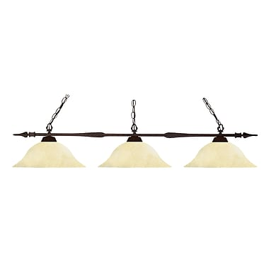 Z-Lite Aztec (88103BRZ-GM16) 3 Light Billiard Light, 53