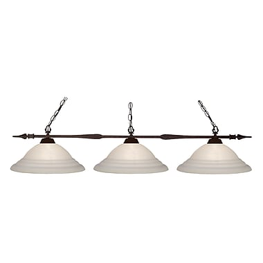 Z-Lite Aztec (88103BRZ-SW16) 3 Light Billiard, 51
