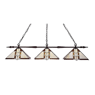 Z-Lite Aztec (88103BRZ-Z14-608) 3 Light Billiard, 51