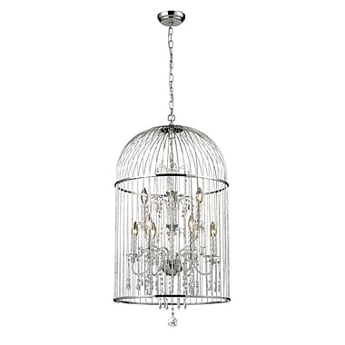 Z-Lite Avary (887CH) 9 Light Crystal Chandelier, 19.5