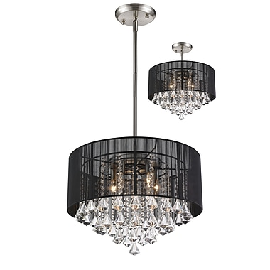 Z-Lite Aura (890-20BK-C) 5 Light Pendant, 20