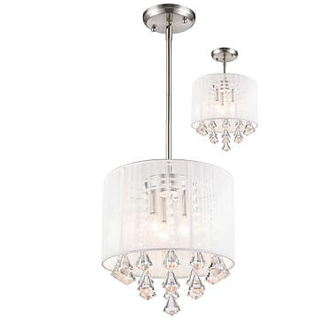 Z-Lite Aura (891-12W-C) 3 Light Pendant, 12