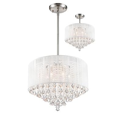 Z-Lite – Luminaire suspendu Aura (891-24W-C) à 6 lampes, 24 x 24 x 19,5 po, nickel brossé