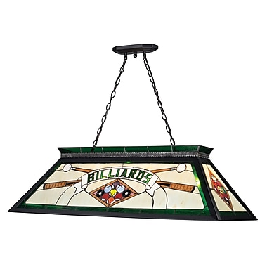 Z-Lite Tiffany Billiard Light (KD25GREEN) 4 Lights, 43.75