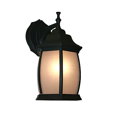 Z-Lite Waterdown (T20-BK-F) 1 Light Outdoor Wall Light, 7.5