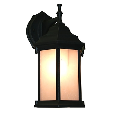 Z-Lite Waterdown (T21-BK-F) 1 Light Outdoor Wall Light, 7.5