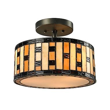 Z-Lite – Luminaire semi-encastré Raya à 3 lumières (Z12-51SF), 12 x 12 x 9 po, bronze Java