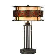 Z-LiteMD – Lampe de table Milan (Z14-50TL) à deux lumières, 14 x 14 x 22 po, bronze Java