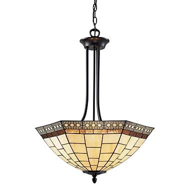 Z-Lite – Luminaire suspendu Prairie Garden à 3 lumières (Z22-35P), 22 x 29 po, bronze marron