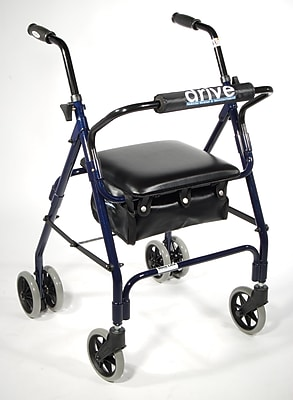 Drive Medical Mimi Lite Push Brake Rollator Walker