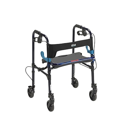 Drive Medical Clever Lite Rollator Walker, Flame Blue, Wheel