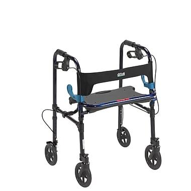 Drive Medical Clever Lite Rollator Walker, Flame Blue, Adult, 8