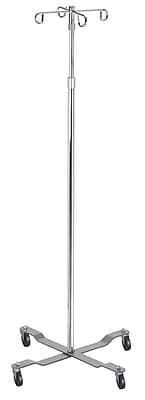 Drive Medical Economy Removable Top I. V. Pole, Chrome, 4 Hook Top