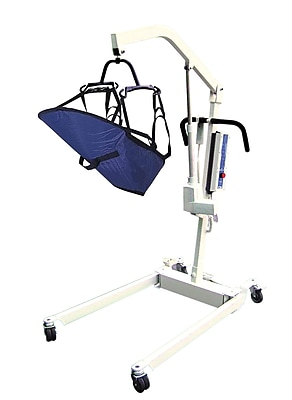 Drive Medical Bariatric Rechargeable Patient Lift and 4 Point Cradle, Removable Battery