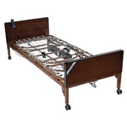 Drive Medical Delta Ultra Light Semi Electric Bed, Half Rails, Innerspring Bed