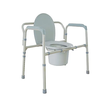 Drive Medical Heavy Duty Bariatric Folding Bedside Commode Seat