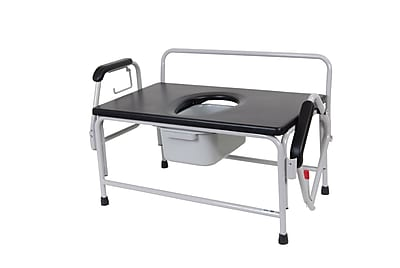 Drive Medical Bariatric Drop Arm Bedside Commode
