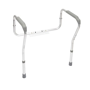 Drive Medical Toilet Safety Frame, Plastic Armrest