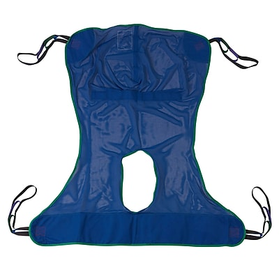 Drive Medical Full Body Patient Lift Sling, With Commode Cutout, Large